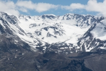 The crater of Mt. St. Helens