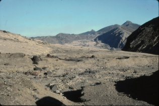 Looking towards Coldwater Ridge, and the landslide debris that carried up over the ridge
