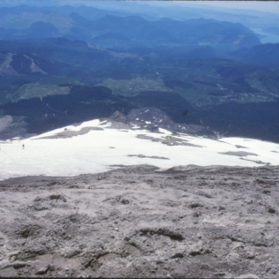Looking downslope, July 8, 1988