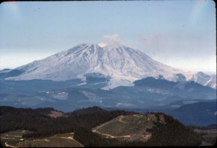 Mt. St. Helens from Bird Mtn., August 1982